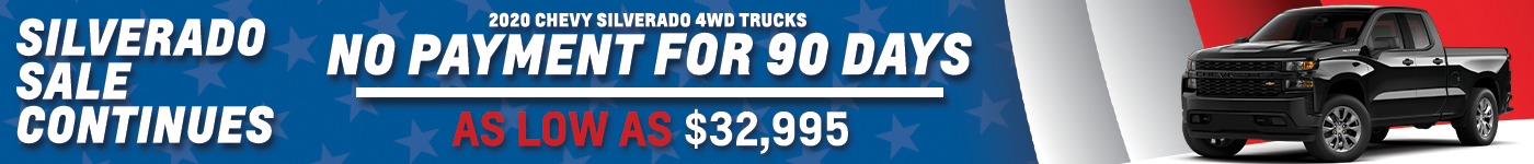 silverado sale continues with no payment for 90 days