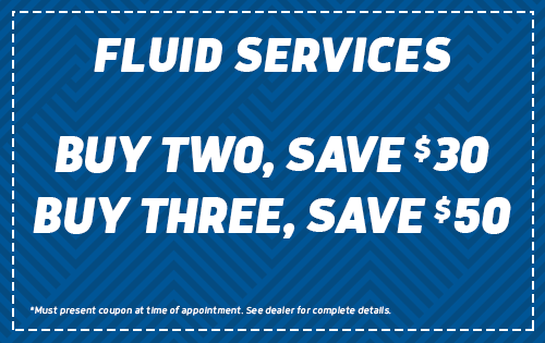 Fluid Services - Buy 2, Save $30 - Buy 3, Save $50