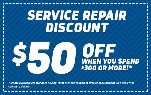 Service Repair Discount - $50 Off