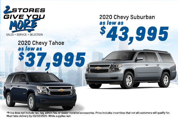 2019 Chevy Tahoe and 2019 Chevy Suburban