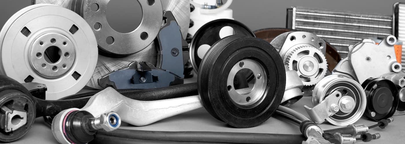 close up of oem car parts