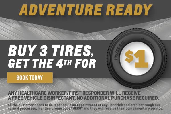 Adventure Ready - Buy 3 tires get the 4th for $1!
