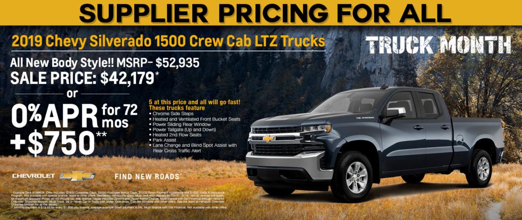2019 Chevy Silverado 1500 Crew Cab LTZ Trucks
