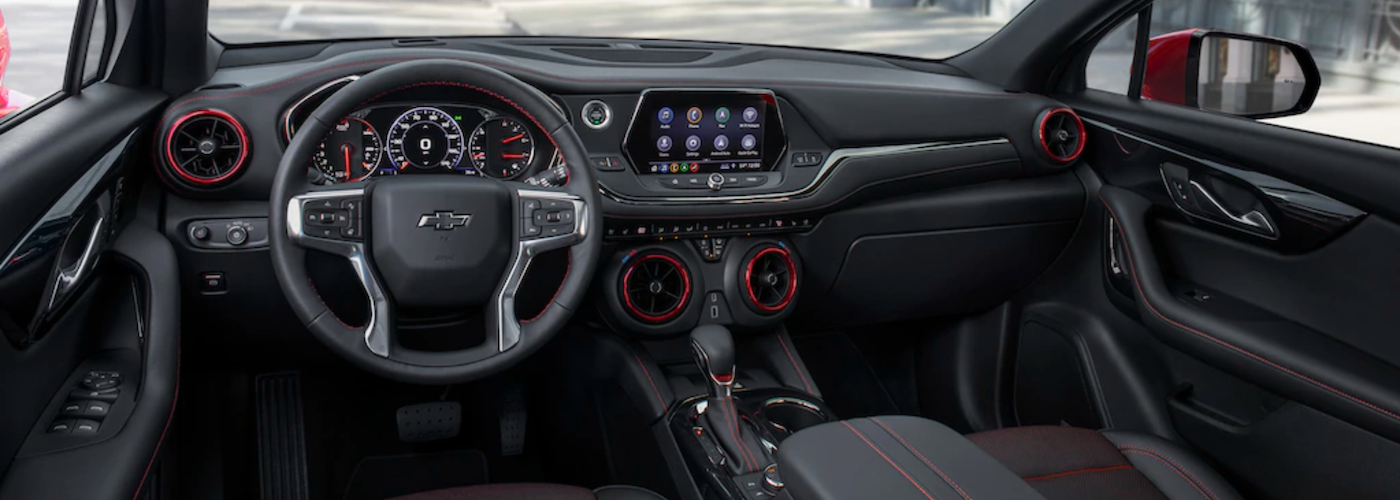 2012 chevy blazer dashboard black interior