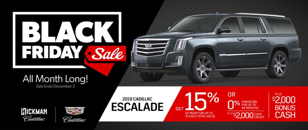 2019 Cadillac Escalade November Offer