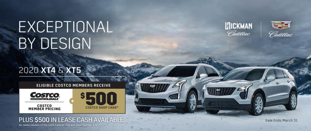 Cadillac XT4 and XT5 Offers