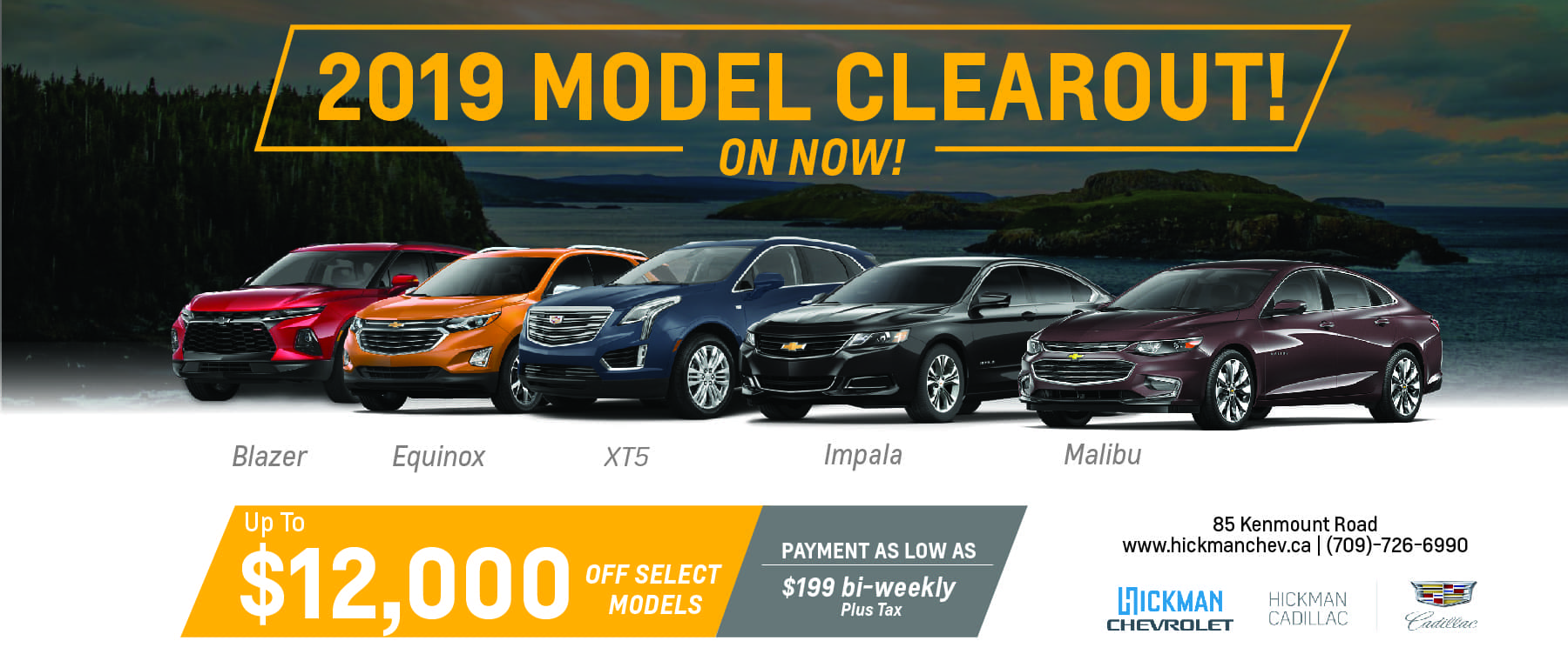 2019 Model Clear Out – Chevrolet Cadillac – Web Banner-01-01