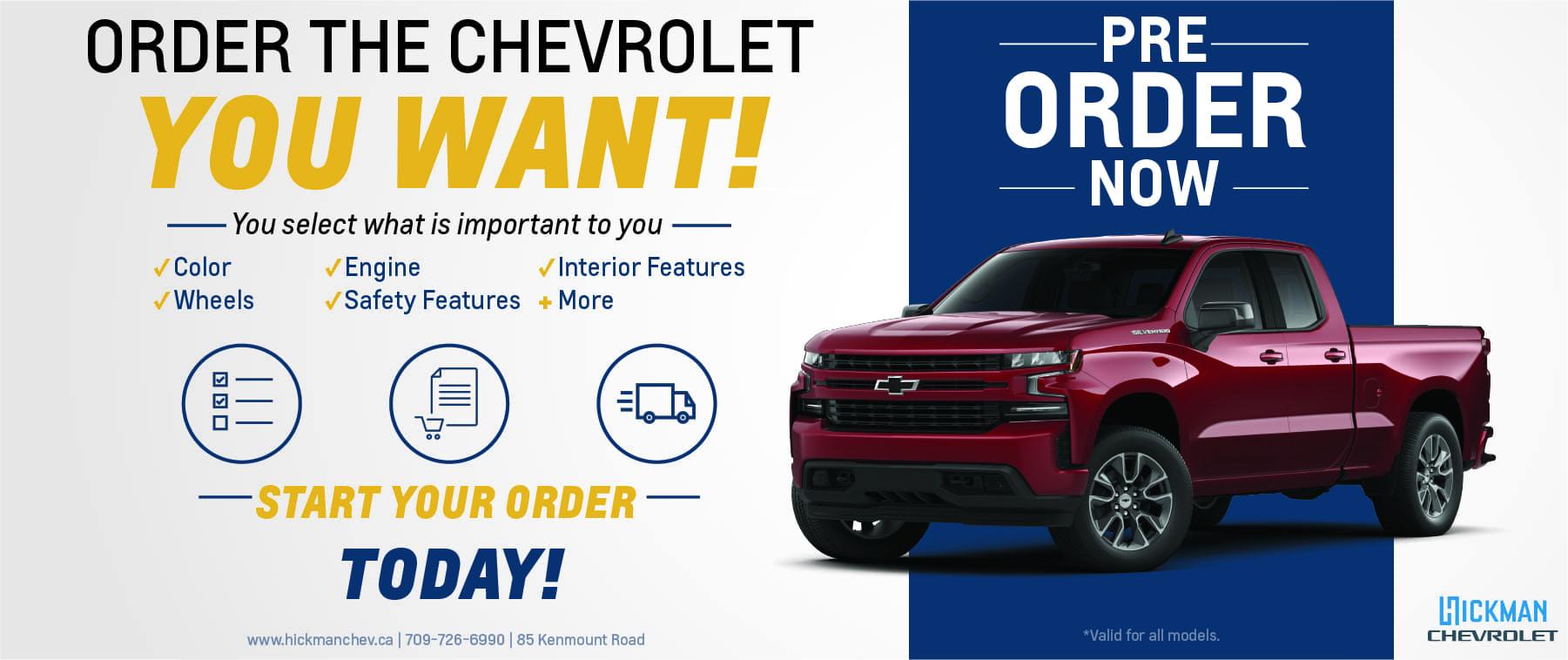 Pre-order your 2021 – Chevrolet – Web Banner