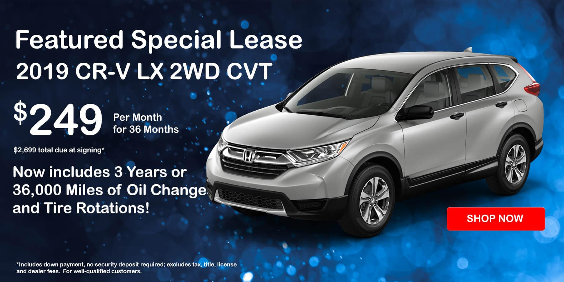 Honda CR-V Lease Special $249 per Month