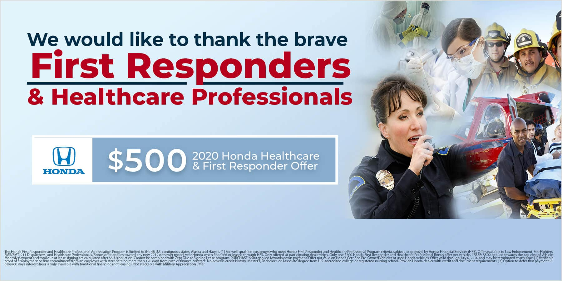 Honda First Responder $500 Offer