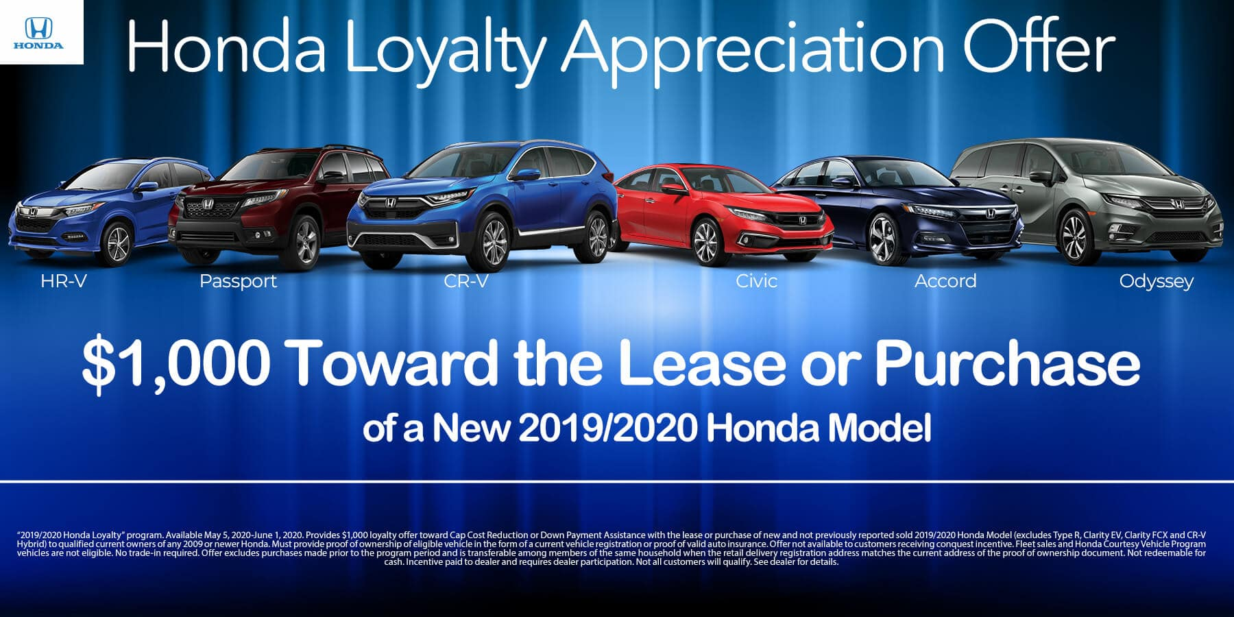 $1,000 Toward the Lease or Purchase of a New Honda