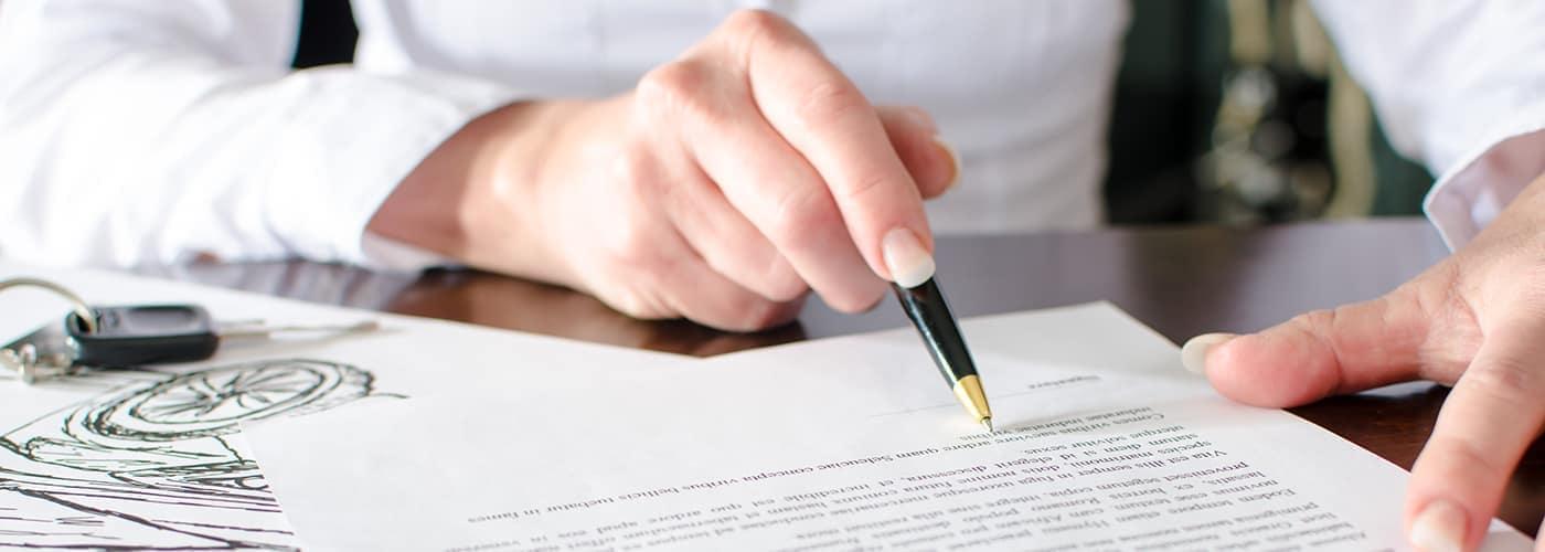 Car lease paperwork finance