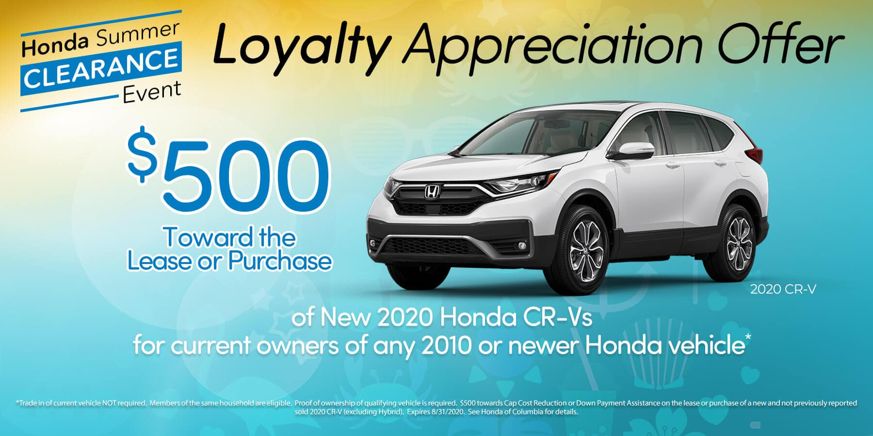 $500 Loyalty Offer for Current Honda Owners