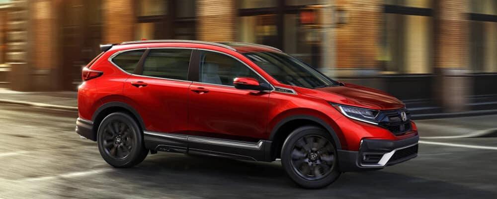 2020 Red Honda CR-V in the city street