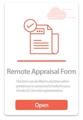 Remote Appraisal Form Button