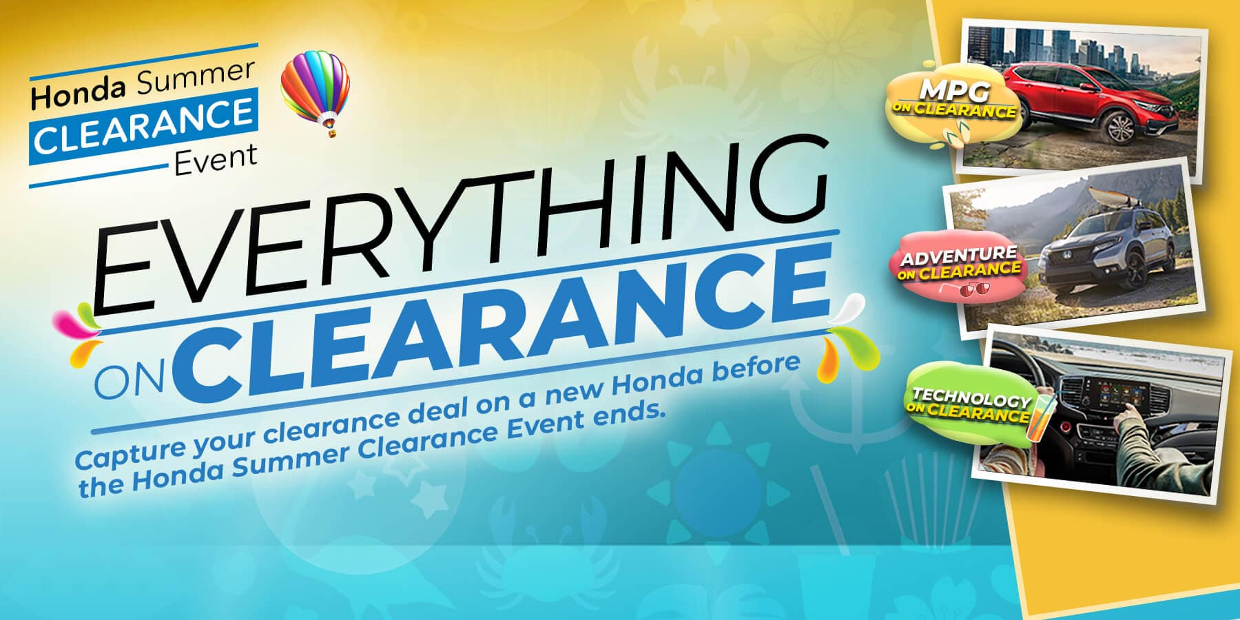 Summer Clearance Going on Now