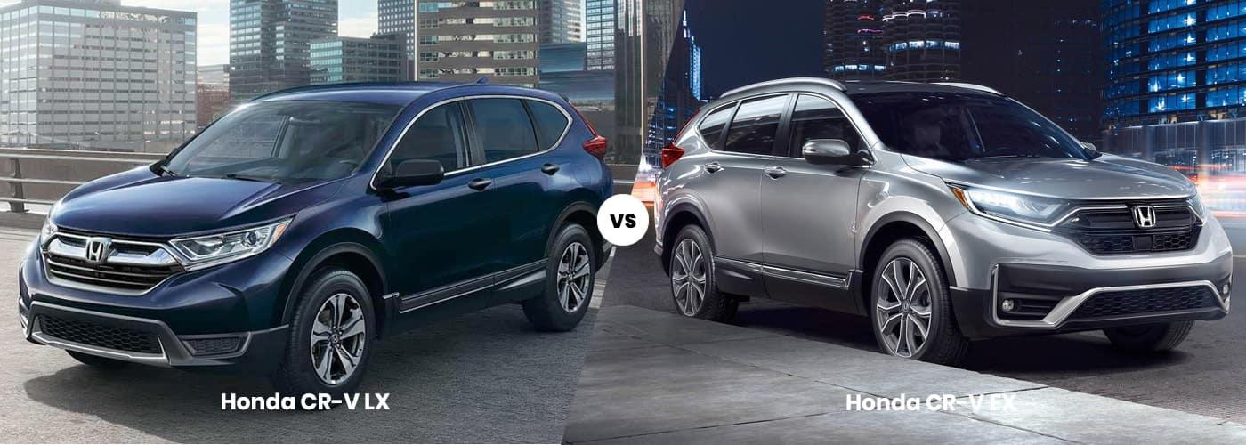 2020 Honda CRV LX vs EX comparison