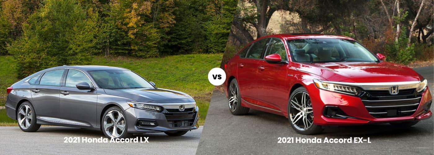2021 Honda Accord LX vs EX-L comparison