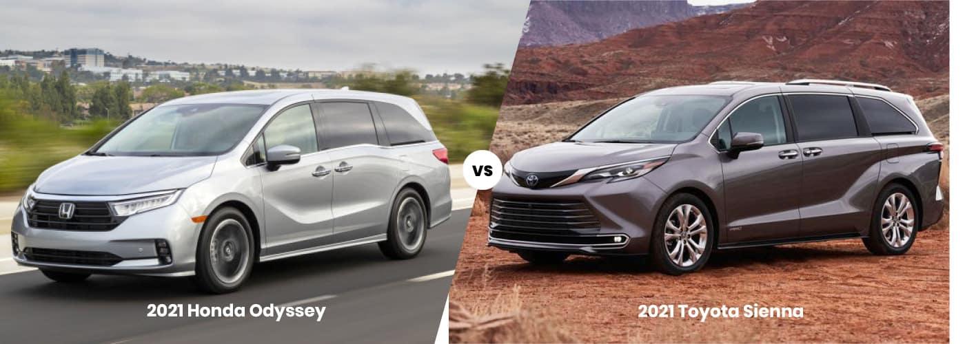 2021 Honda Odyssey vs 2021 Toyota Sienna Comparison