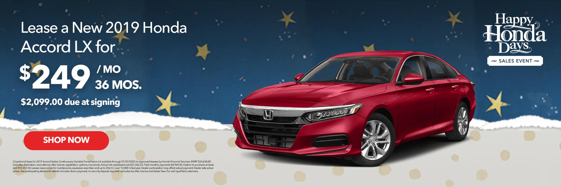 Happy Honda Days Accord Lease Offer
