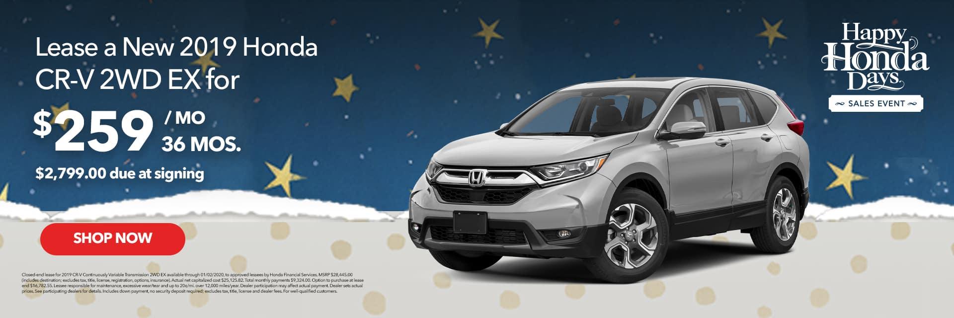 Happy Honda Days CR-V Lease Offer
