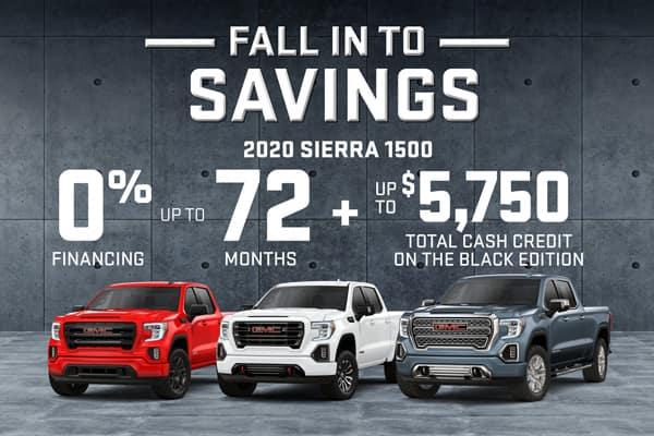 GMC Fall Into Savings