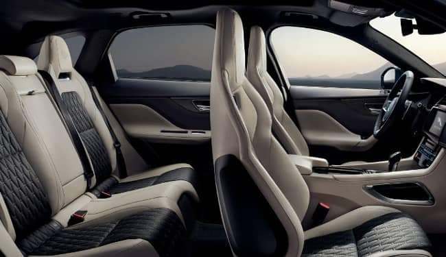 cabin of 2020 Jaguar F-PACE SVR