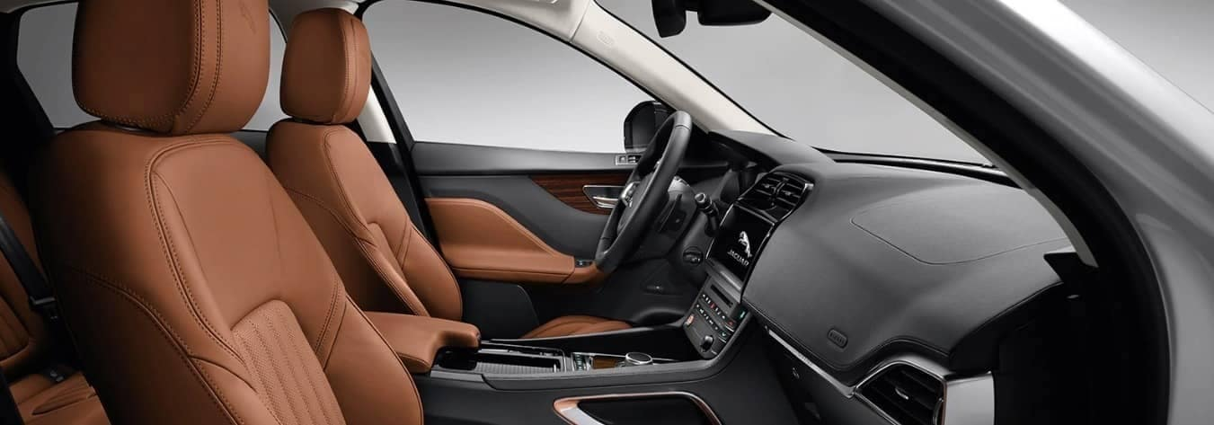 interior front cabin of 2020 Jaguar F-PACE