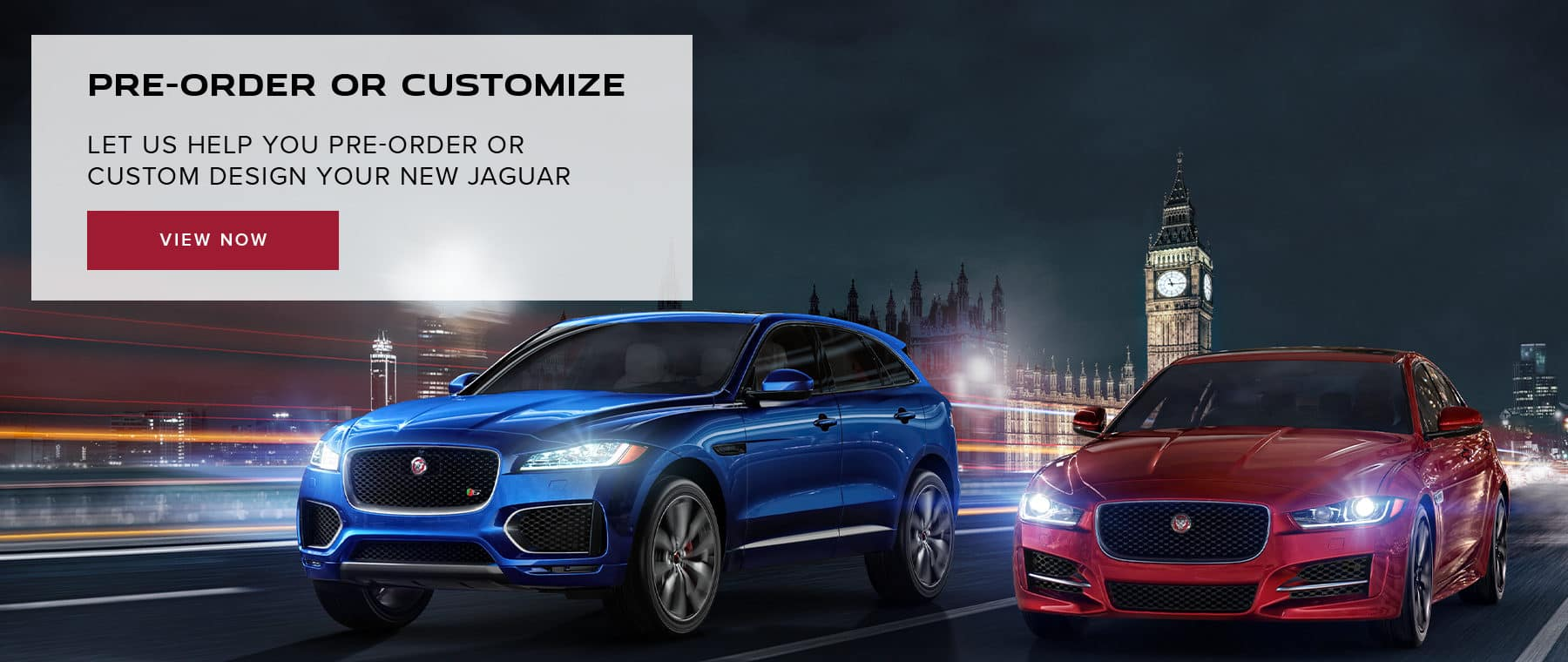 Pre-order or customize your Jaguar today!