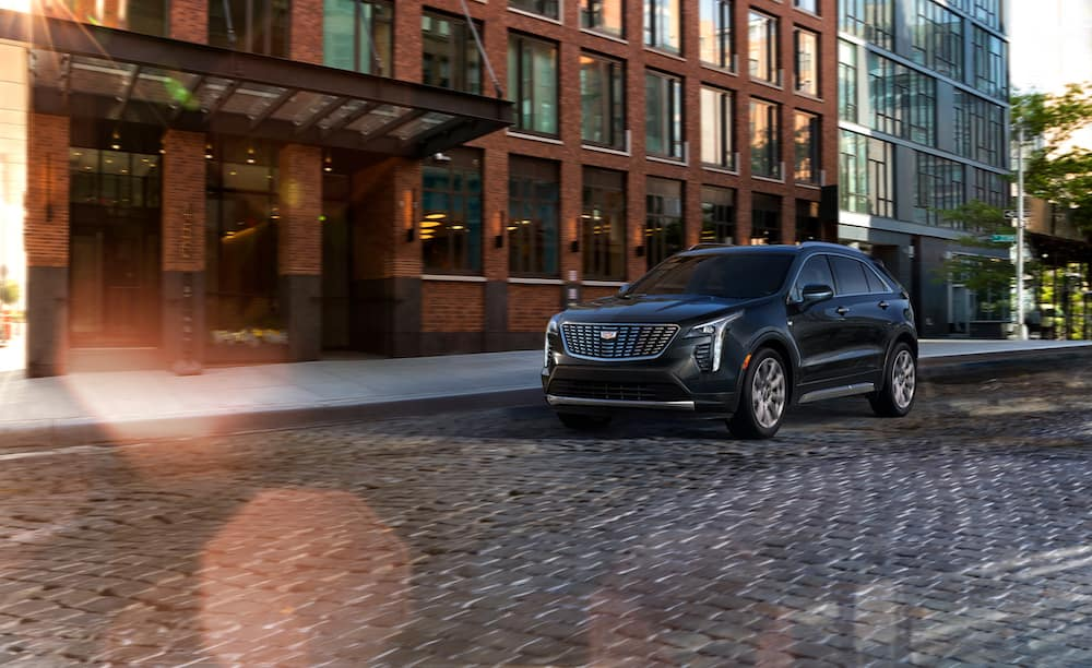 Style and Performance Features of the 2019 Cadillac XT4 at Jim Coleman Automotive | Black 2019 Cadillac XT4 running on road