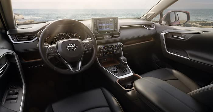 Performance features of the 2019 Toyota RAV4 at Jim Coleman Automotive | The dashboard of the 2019 Toyota RAV4