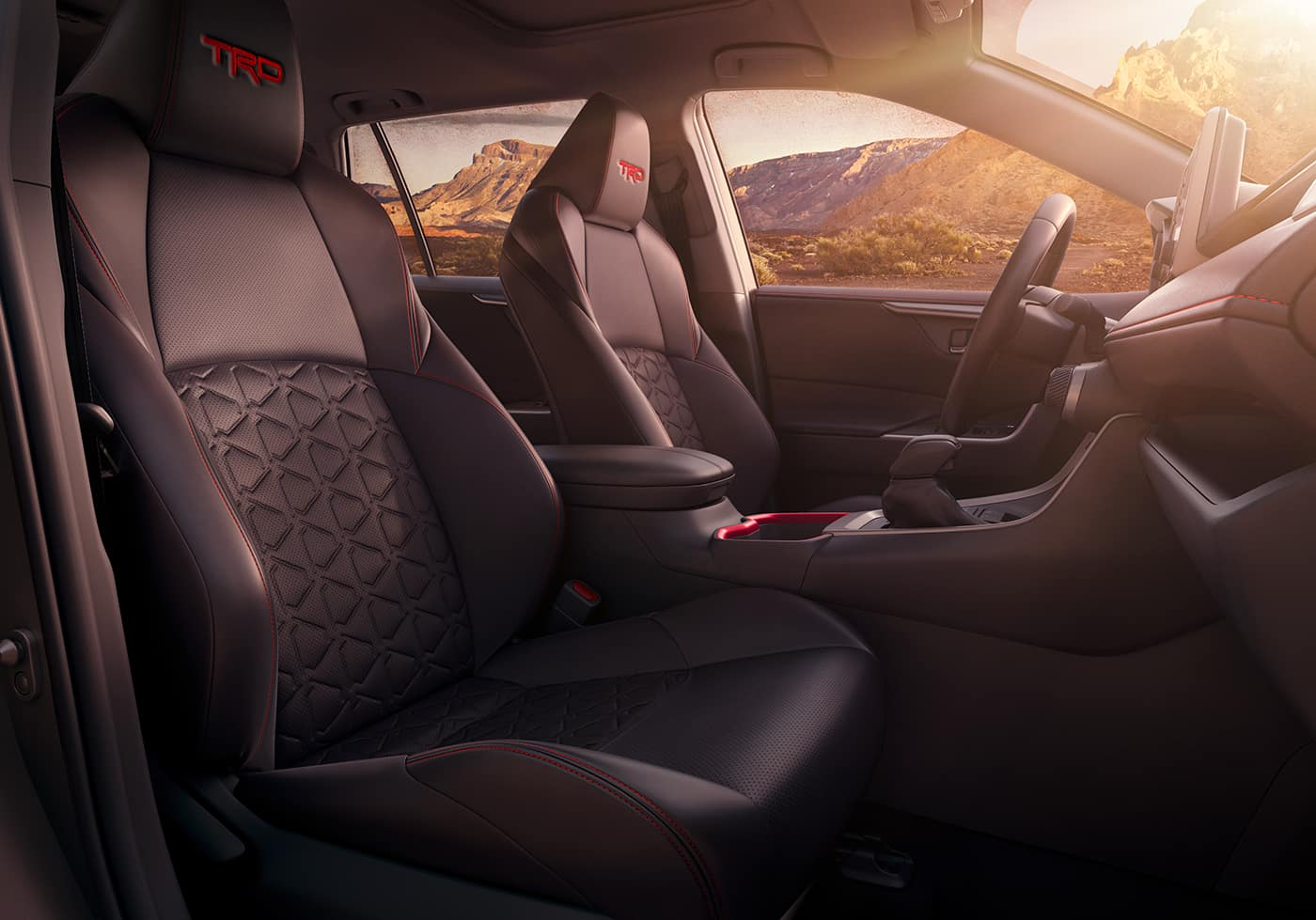 Performance features of the 2020 Toyota RAV4 at Jim Coleman | The seatings of the 2020 RAV4