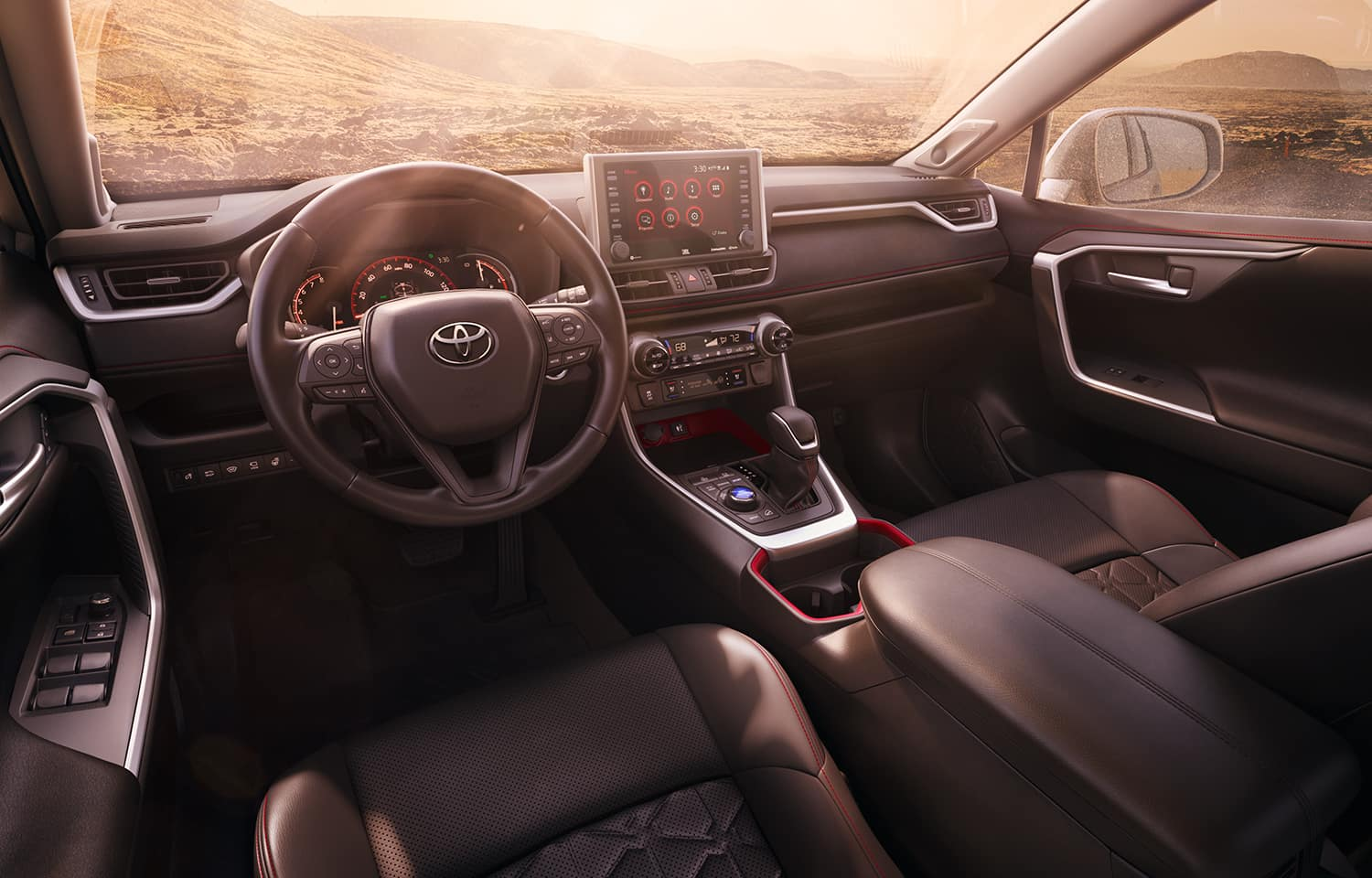 Performance features of the 2020 Toyota RAV4 at Jim Coleman | 2020 RAV4 interior