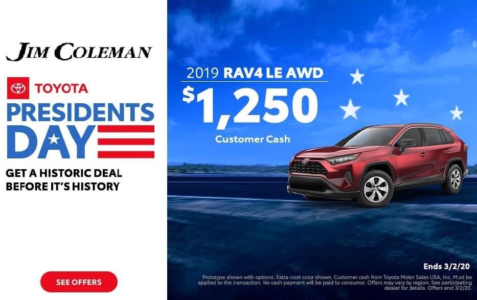 Jim Coleman Presidents Day Toyota RAV4