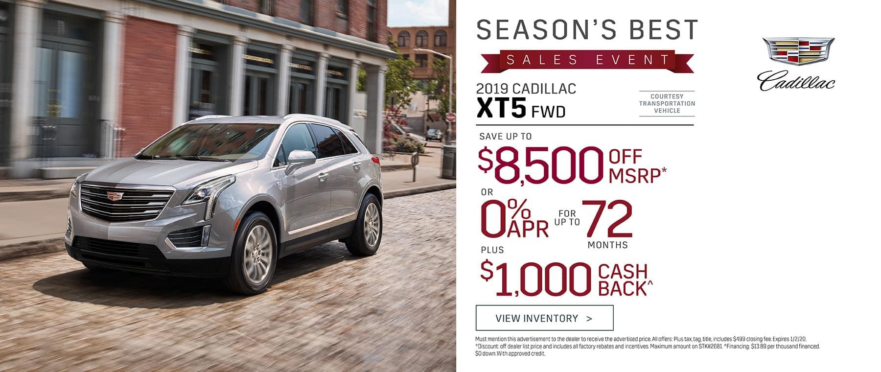 New 2019 Cadillac XT5