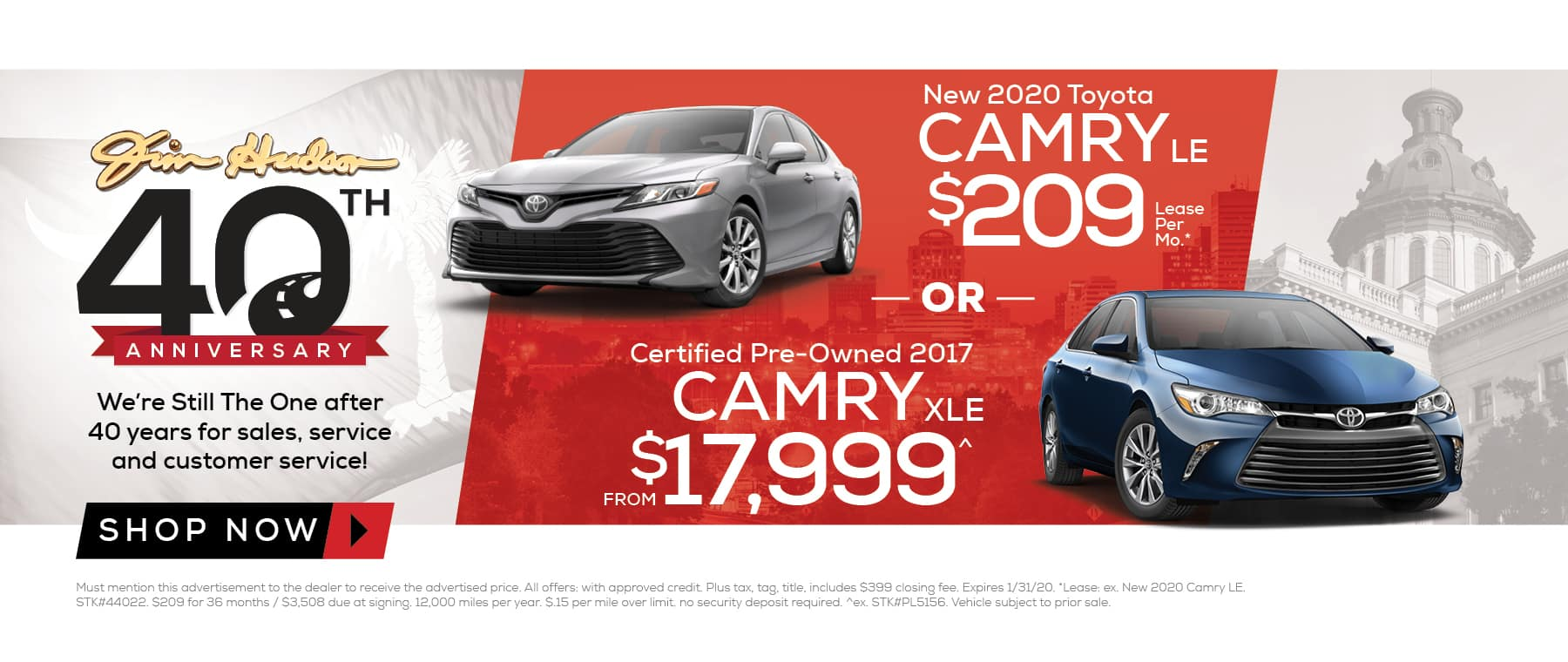New 2020 Toyota Camry or CPO 2017 Camry