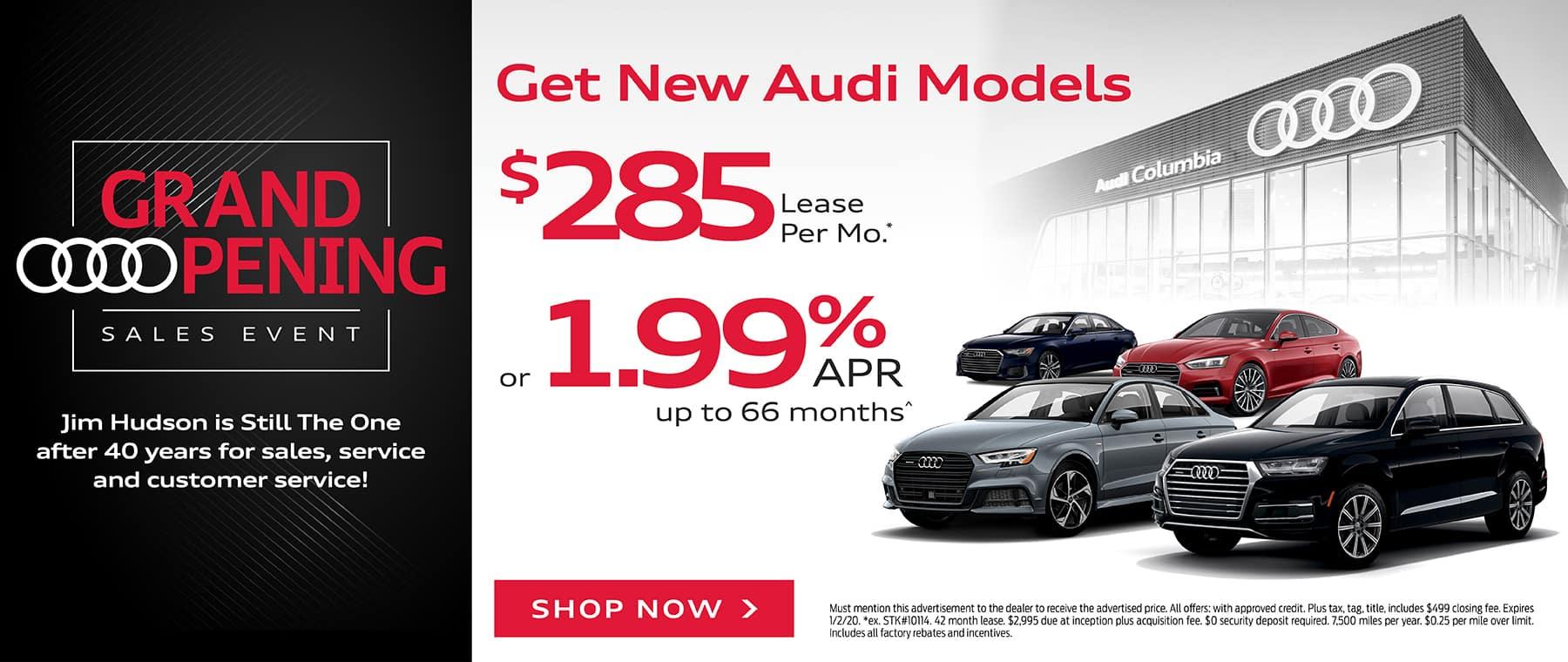 Get New Audi Models
