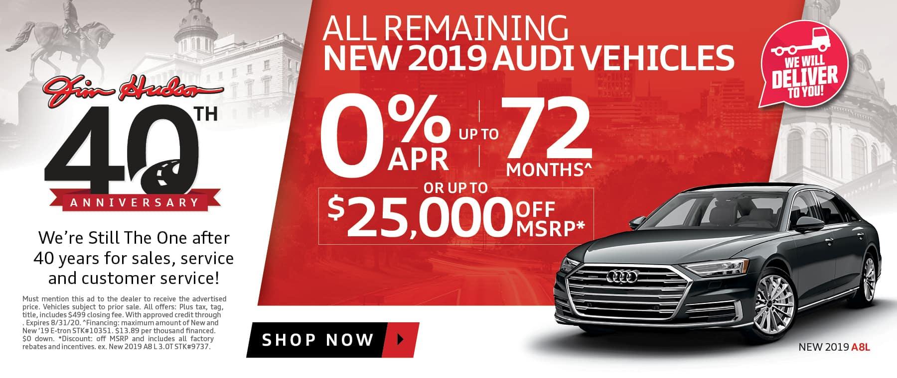2019 Audi vehicles