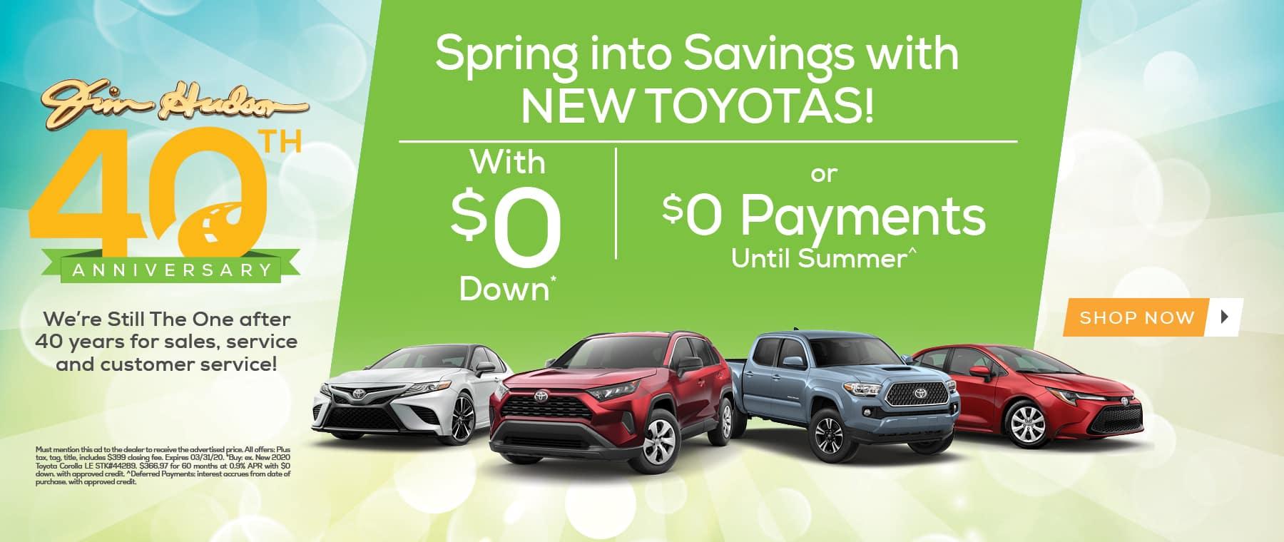 Spring Into Savings Toyota