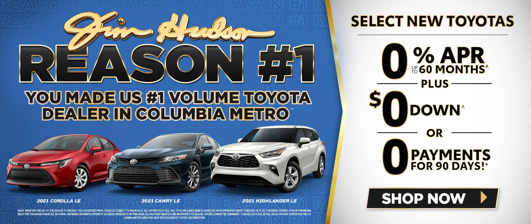 Jim Hudson Toyota - #1 New Toyota Monthly Specials