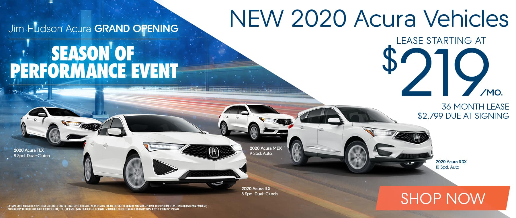 New 2020 Acura Vehicles