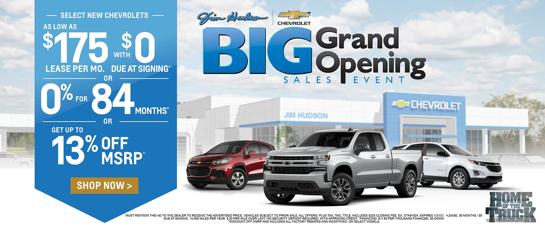 New Chevrolets - Big Grand Opening Sales Event