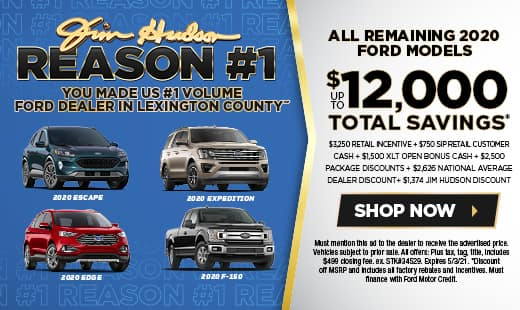 New Ford Monthly Specials