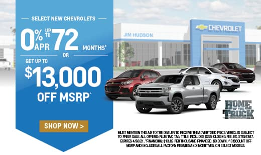 New 2021 Chevrolet Vehicles