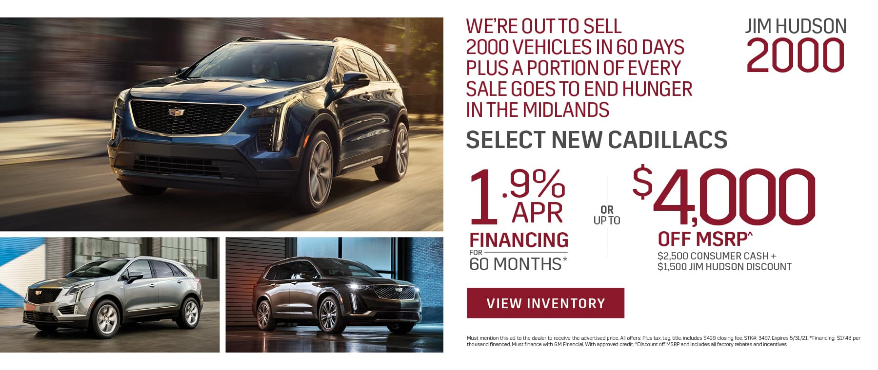 JHS Cadillac - Monthly Vehicle Special