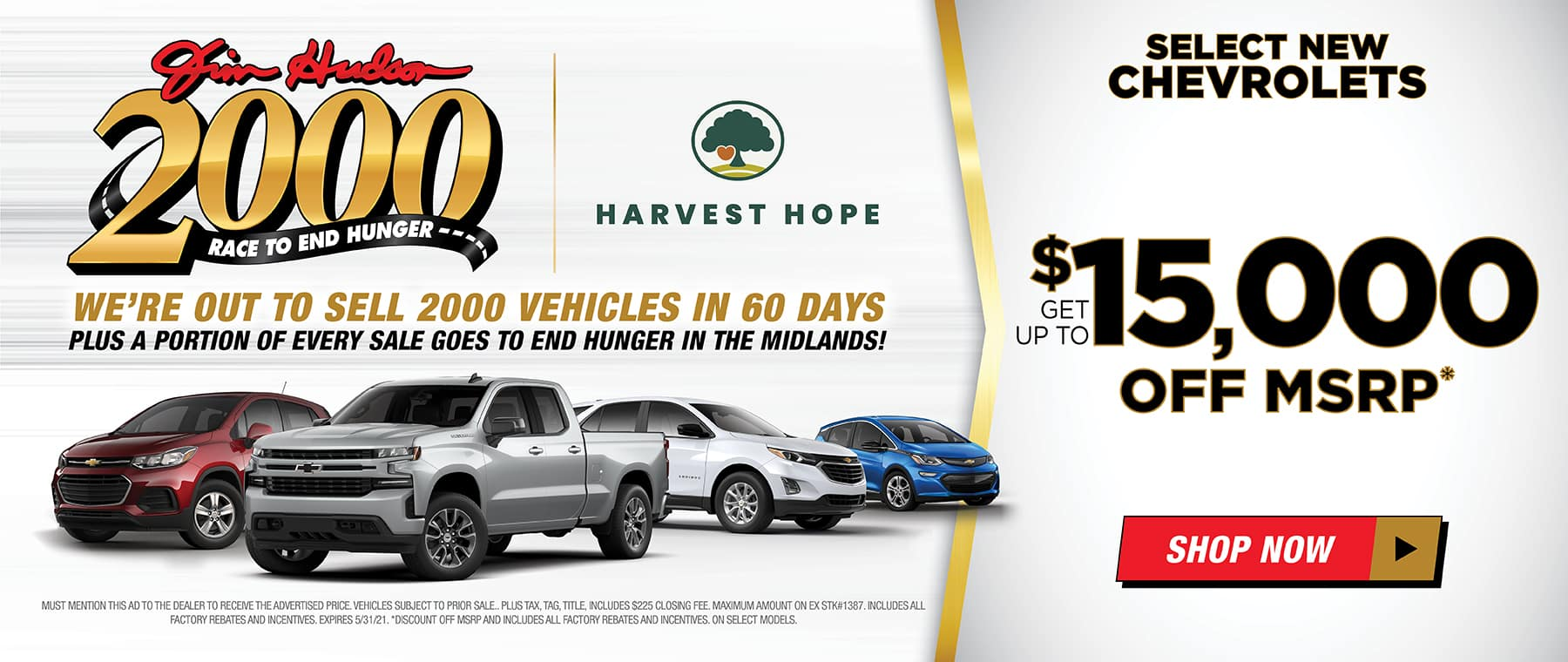 JHC MONTHLY CAR OFFER