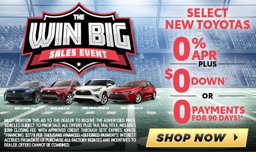 New Toyota Monthly Specials