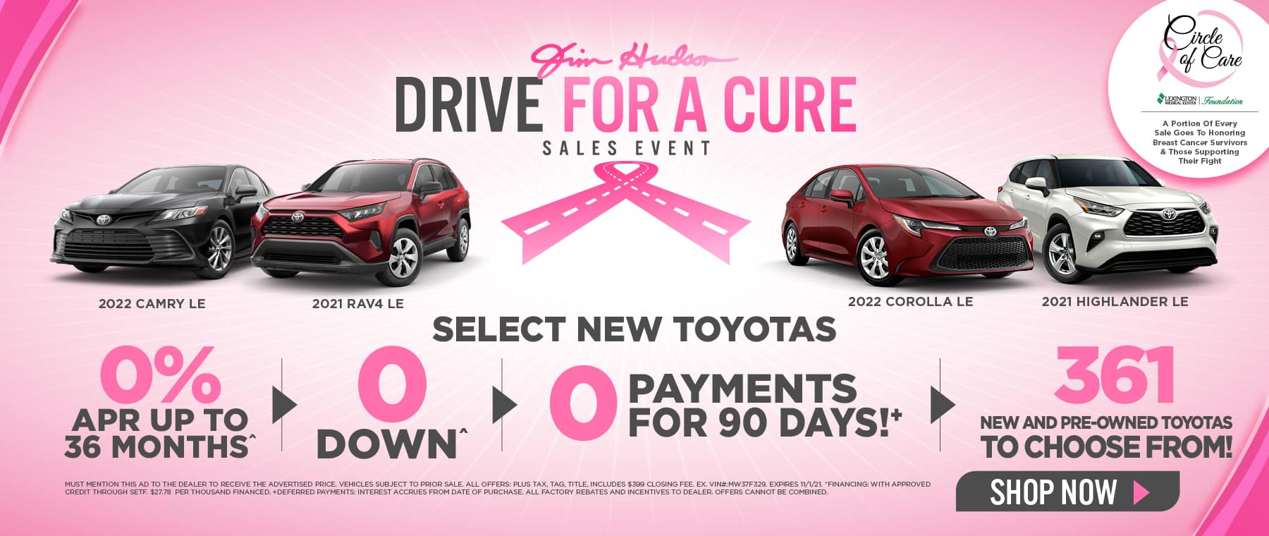Jim Hudson Drive for a Cure Event - JHT