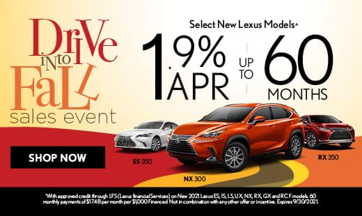 Drive Into Fall with 1.9% APR