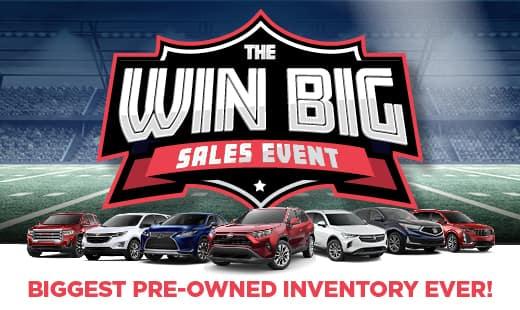 Jim Hudson Win Big Sales Event